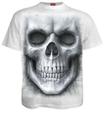 Spiral Solemn Skull, T-Shirt White|AlloverPrint|Skulls|Fashion