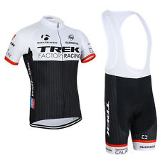 Team Trek Factory Racing Cycling Jersey and Bib Shorts Set (UK SELLER)