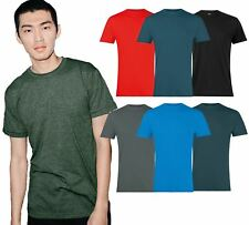 American Apparel Mens T-Shirt Poly Cotton Short Sleeve Crew Women T Shirt AA002