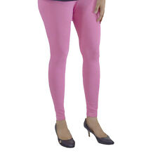 BABY PINK COTTON LYCRA WOMEN LEGGINGS ANKLE LENGTH