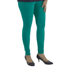 TURQUOISE COTTON LYCRA WOMEN LEGGINGS ANKLE LENGTH