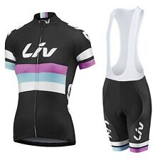 Womens Team Giant Liv Cycling Jersey and Bib Shorts Set (UK SELLER)