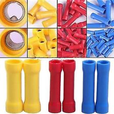 100/10 Pcs Insulated Straight Wire Butt Connector Electrical Crimp Terminal El