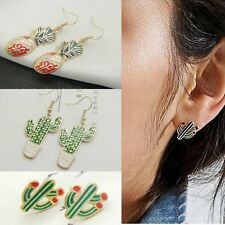 Lovely Plant Cactus Drop/Dangle Ear Earrings Stud/Hook Women Christmas Jewellery