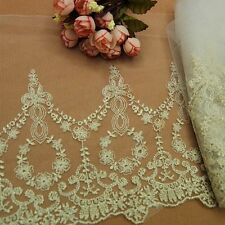 Newly Lace Trims Retro Style Embroidered Tulle Sewing Dress Skirt DIY Lacework