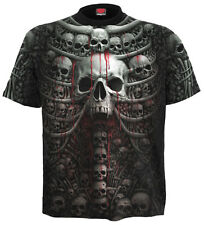 Spiral Direct DEATH costillas, INTEGRAL CAMISETA TALLA GRANDE NEGRO calaveras