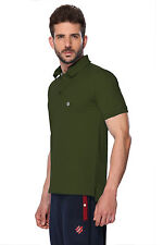 ONN Men's Casual Cotton Half Sleeves Polo T-Shirt (ONN_NC431_Olive)