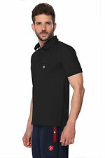 ONN Men's Casual Cotton Half Sleeves Polo T-Shirt (ONN_NC431_Black)