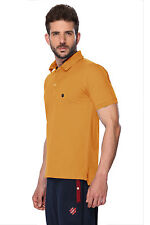 ONN Men's Casual Cotton Half Sleeves Polo T-Shirt (ONN_NC431_Mustard)