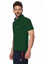 ONN Men's Casual Cotton Half Sleeves Polo T-Shirt (ONN_NC431_Bottle Green)