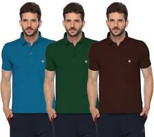 ONN Men's Cotton Half Sleeves Polo T-Shirt (431_Brt Blue-Btl Green-Coffee_3)