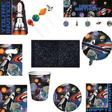 Space Blast Happy Birthday Party Tableware Decorations Balloons & Invitations