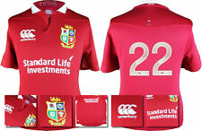 2017 - CANTERBURY / BRITISH AND IRISH LIONS RED PRO JERSEY / NUMBERED 22 = SIZE*
