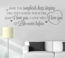 And The Songbirds Lyrics - Eva Cassidy Wall Sticker Wall Chick Decal Art Sticker