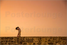 Poster / Leinwandbild Couple posing on the old wall, Old Walled-... - L. Grier