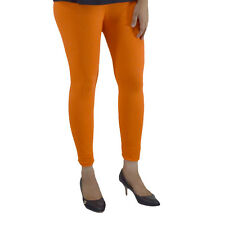 ORANGE COTTON LYCRA WOMEN LEGGINGS ANKLE LENGTH