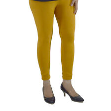 MUSTARD COTTON LYCRA WOMEN LEGGINGS ANKLE LENGTH