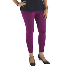 MAGENTA COTTON LYCRA WOMEN LEGGINGS ANKLE LENGTH