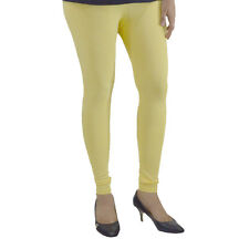 LEMON YELLOW COTTON LYCRA WOMEN LEGGINGS ANKLE LENGTH