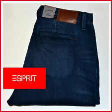 WOW! NEU ESPRIT HERREN COMFORT STRETCH TAPERED LEG W34L34 DARK DENIM JEANS HOSE