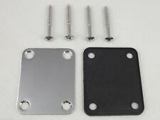 Electric Guitar Neck Plate with Screws Strat Tele Guitar Jazz Bass Replacement