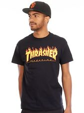 Thrasher Black Flame Logo T-Shirt