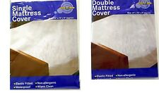 FITTED MATTRESS PROTECTOR SHEET FITTED MATTRESS PROTECTION SINGLE, DOUBLE SIZE
