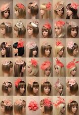 Coral Nude Fascinator Wedding Races Prom Ascot Occasion Wholesale Headpiece.
