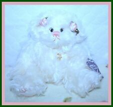 *NEW* ANNETTE FUNICELLO CORAL MOHAIR ANGEL BEAR WITH COA