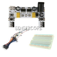 MB102 Power Supply Module Solderless Mini Breadboard 400+65PCS Jump Cable Wires