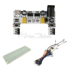 MB102 Power Supply Module Solderless Mini Breadboard 400&65PCS Jump Cable Wires