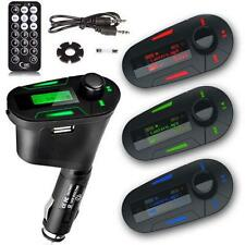 Car Kit MP3 Player Wireless FM Transmitter Modulator USB SD MMC LCD Remote RGBCB