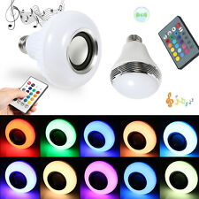 E27 LED RGB Wireless Bluetooth Speaker Bulb Light Music Lamp W/ Remote Control G
