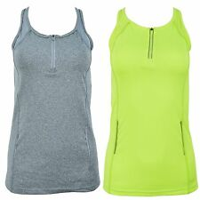 Ladies Running Top Womens Reflective Vest Sports Mesh Tank Breathable Gym Tee