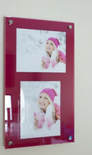"""Acrylic picture photo frame for 2x 10 x 7"""" or 10 x 8"""" /8x10""""/7x10"""" all colours"""
