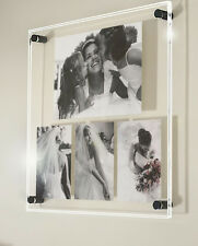 Gloss perspex acrylic wall multi picture photo frame for 1x 12x8/A4 & 3x 8x6/A5