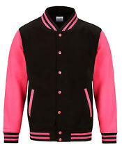 "Giacca College Electric""Varsity giacca""Baseball Uomo Jet Black/electric Fucsia"