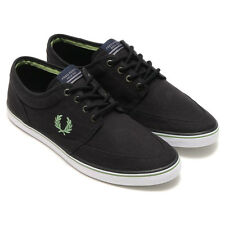 Fred Perry Stratford Canvas Trainers  Plimsolls Casual Shoes B8284-220 - Black