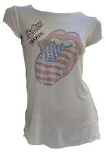 Amplified Official ROLLING STONES Strass USA Tour Lengua Rock Star ViP