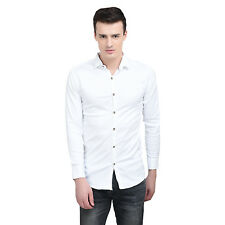 FRANKY & BUNNY MEN'S WHITE PARTY WEAR SHIRT AT FACTORY PRICE (JU120)