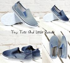 Toddler Girls Boys Jeans Denim Canvas Shoes Sneakers Plimsolls Size UK 8 -3