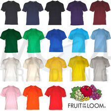 10er Set Fruit of the Loom Kinder Kids T-Shirts in allen Größen und Farben NEU