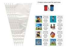 Paw patrol Do it yourself empty sweet cone/s bag/s kits/party bag fillers