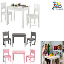 Kids Table And 2 Chairs Set Childrens Furniture Colourful Wooden Set Best Gift