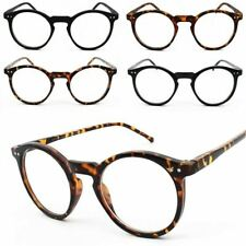 e0493b3c77c Round Frame Tortoise Black Clear Lens Glasses 60s Geek Nerd Men Womens  Keyhole