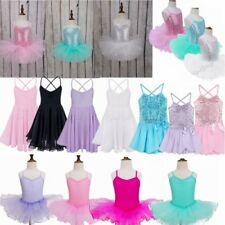 Girls Ballet Tutu Leotard Skirt Gymnastics Dancing Dress Kids Dancewear Costume