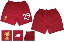17 / 18 - NEW BALANCE ; LIVERPOOL HOME SHORTS / NUMBERED 29 = ADULTS SIZE*