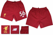 17 / 18 - NEW BALANCE ; LIVERPOOL HOME SHORTS / NUMBERED 56 = ADULTS SIZE*