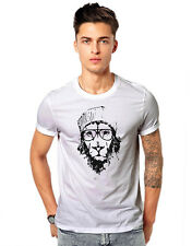 Tiger Face Wolf Funky Animal  Casual T-shirt 180 GSM  T-shirt 180 GSM T-shirts