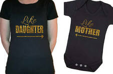 Mother's Day Like Mother like Daughter matching set  t-shirt, baby vest glitter
